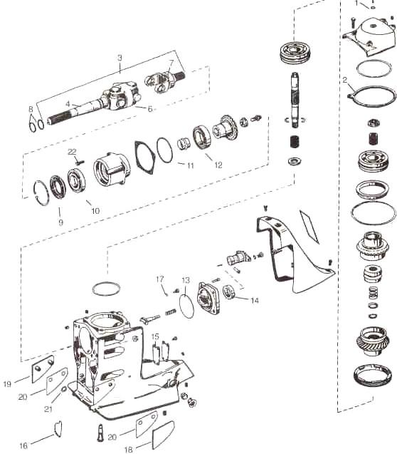 Volvo/OMC Cobra SX OMC parts drawing (upper)