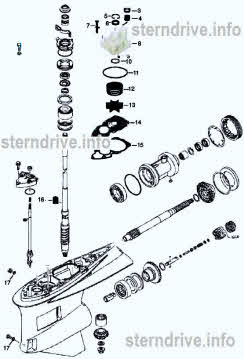 Yamaha outboard parts *Lower unit drawings