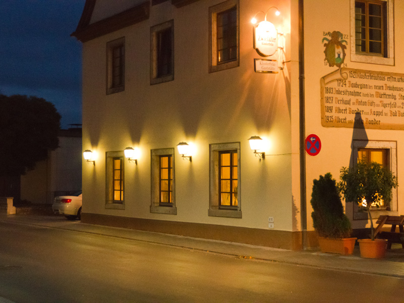 Hausbeleuchtung  Sternenpark Schwbische Alb