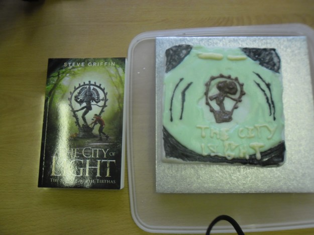 The City of Light book cover cake #cakestagram