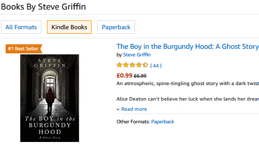 The Boy in the Burgundy Hood is an #1 International Bestseller Ghost Story for readers who want a 'compelling mystery with a dark twist'