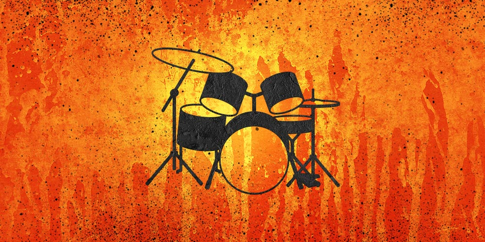 Drum Set - orange