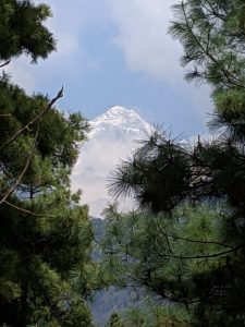 First glimpse of Mount Everest