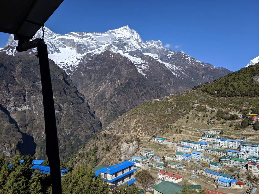 View from our guesthouse in Namche Bazaar