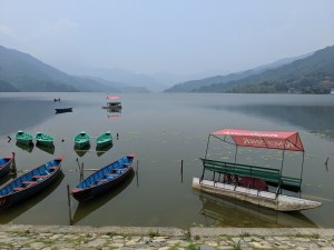 Boats for rent on Phewa Lake (some more seaworthy than others!)