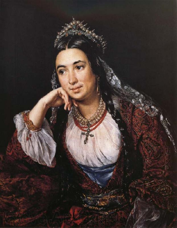 Vasily Tropinin Portrait of the Writer Varvara Lizogub