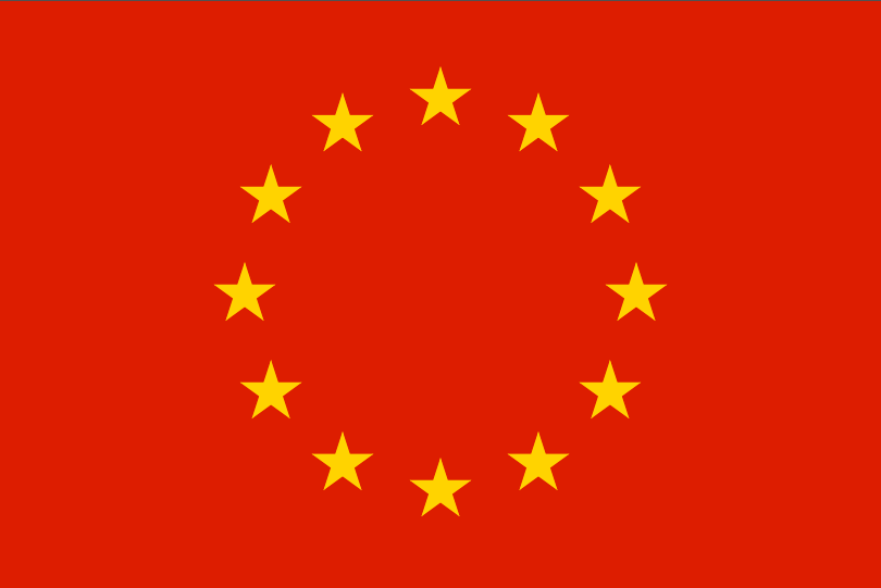 Image result for red europe flag