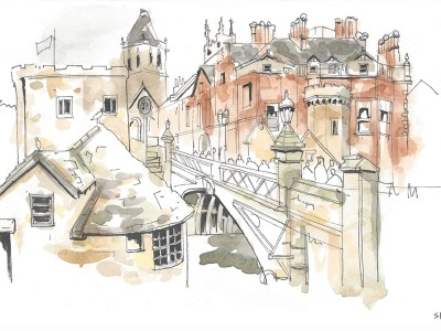 lendal-bridge-york-ink-watercolour-stevebeadleart