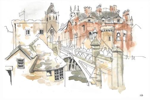 lendal-bridge-york-ink-watercolour-stevebeadleart