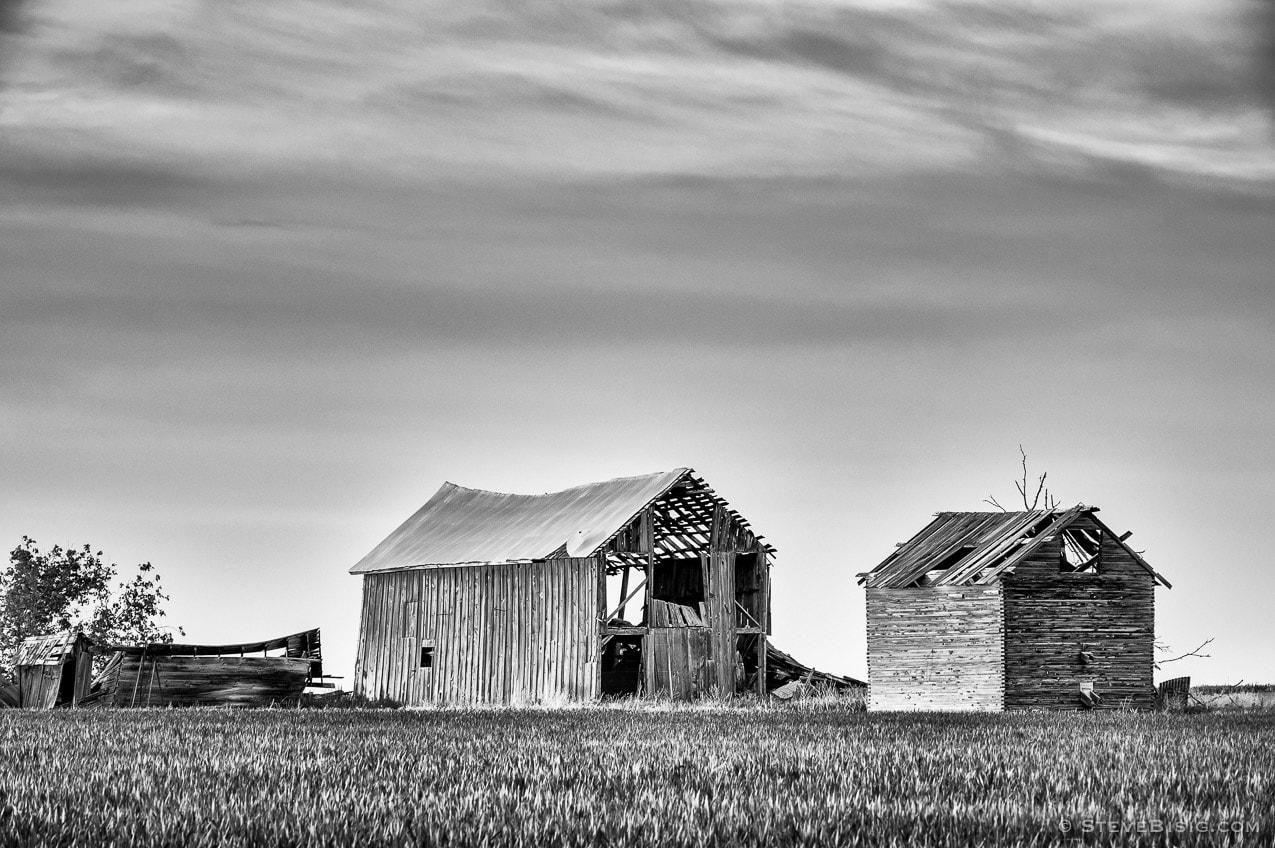Abandoned Barns, K Rd, Douglas County, Washington, 2013