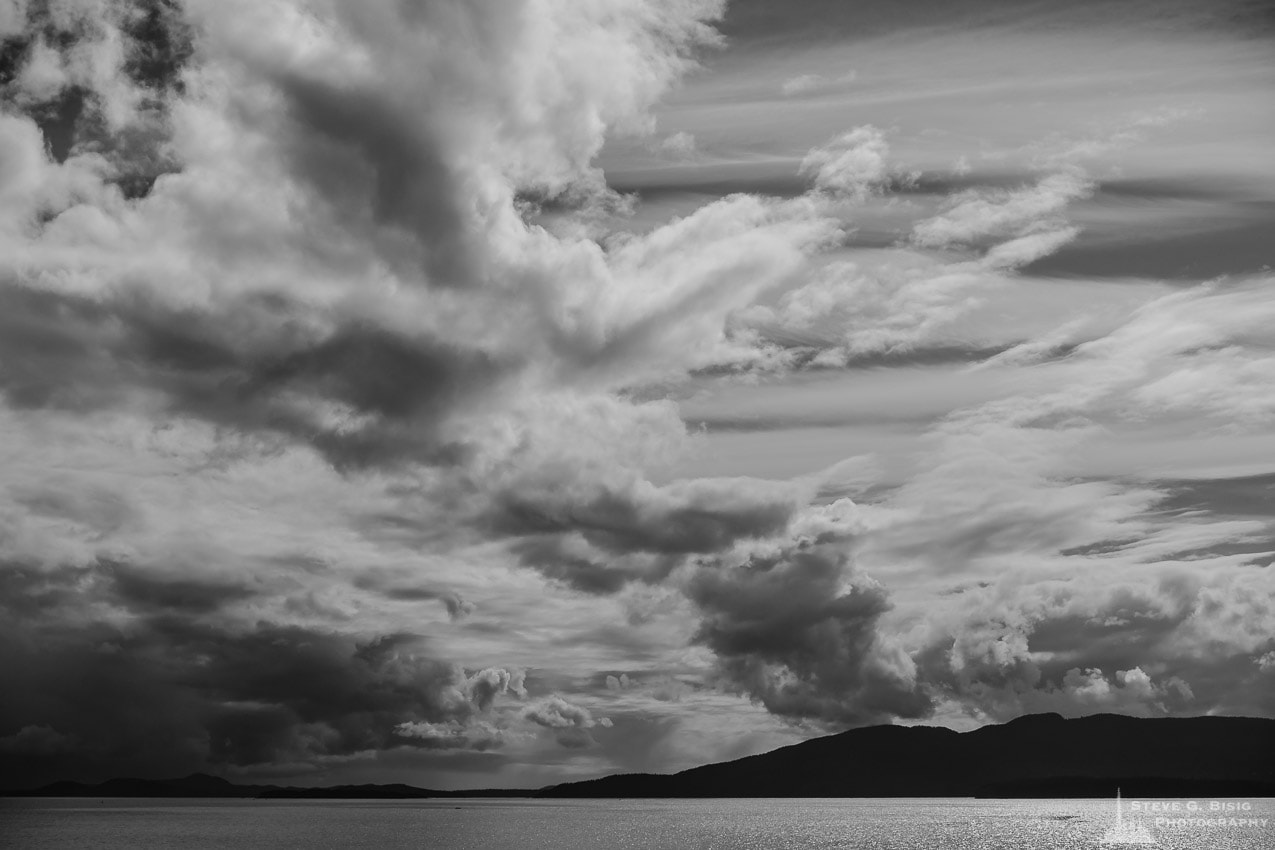 Clouds Over Bellingham Bay, Washington, Spring 2017