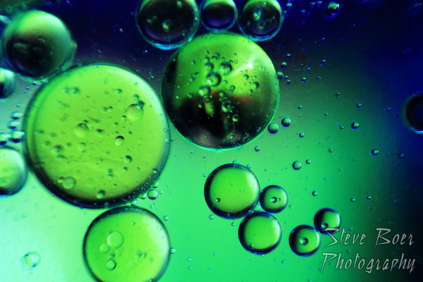Oil & Water green & blue