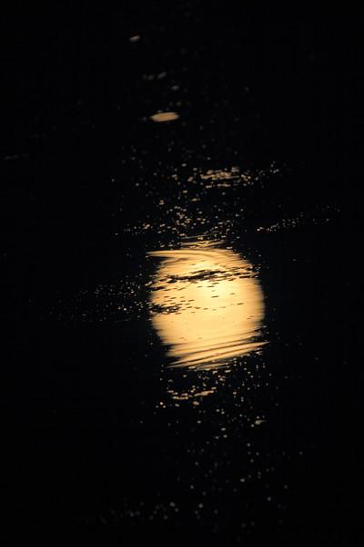 Supermoon reflection
