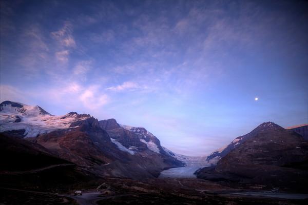 Dawn over Athabasca Glacier