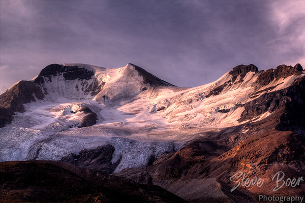 Sunrise on Mount Athabasca