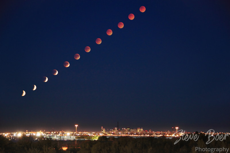 Super Blood Moon Composite