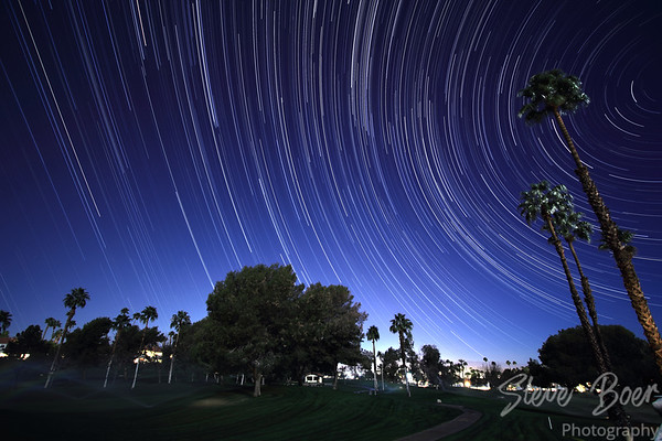 Golf Course Star Trail