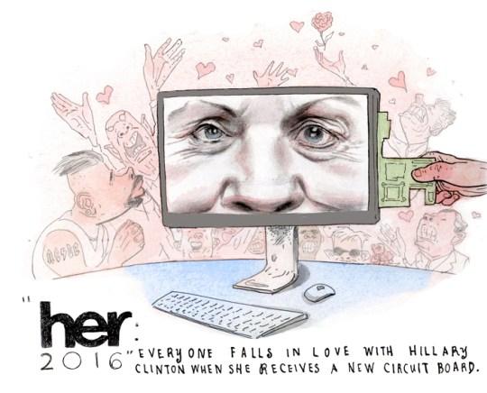 2014 Oscars 9 Hillary
