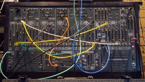 TTSH synth with patch cables