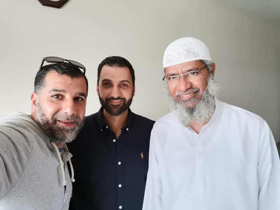 Bassam Saddik and Mohammad Quadan with renown Islamic preacher and Youtube sensation Dr Zakir Naik.
