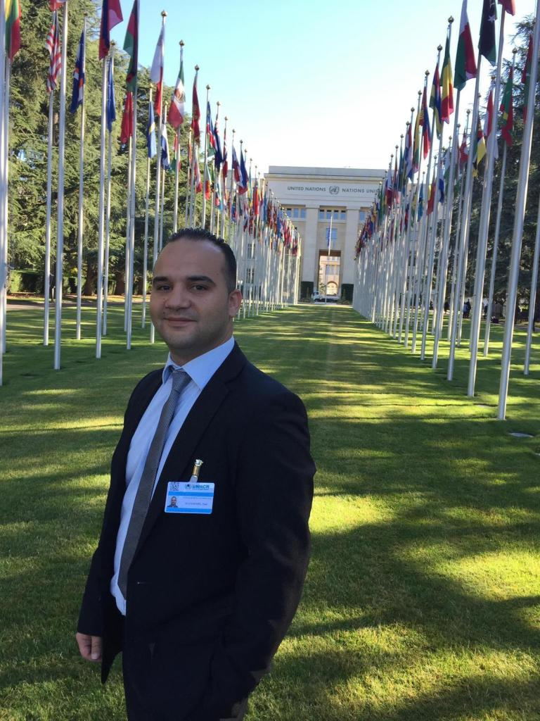 Adam has twice been invited to Geneva to address delegates of the United Nations with regard to issues faced by Palestinian refugees in Syria