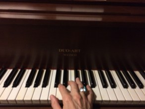 Steve playing the piano