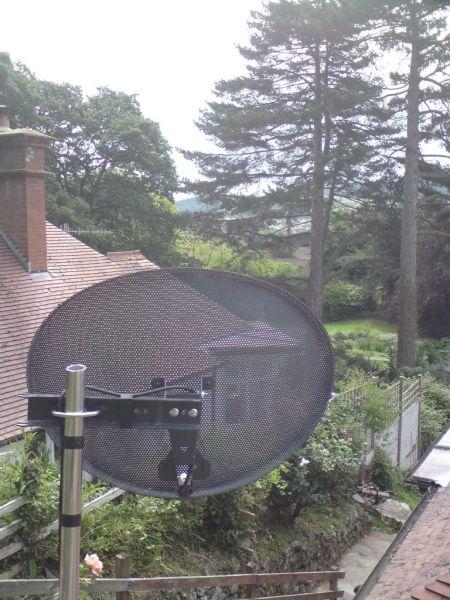 trees blocking the satellite signal