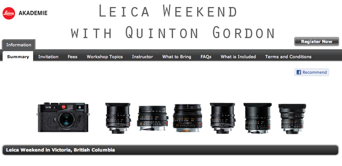 Join the Leica Akademie in Victoria, British Columbia with