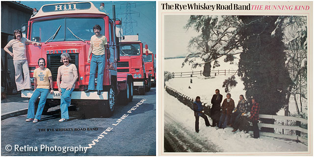 Album Covers for the Rye Whiskey Road Band