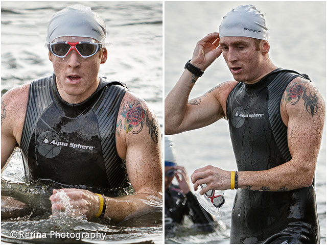 Bucklers Hard Triathlon Swimmer Leaving the Water