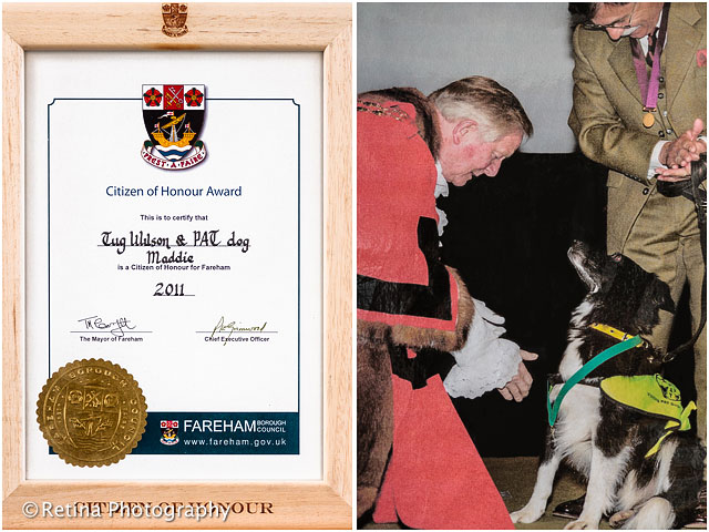 Citizen Of Honour Award For Pets As Therapy Dog 2011