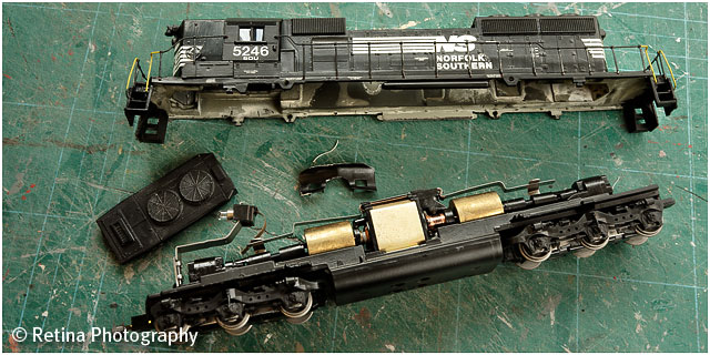 American Railroad Model Train Dismantled