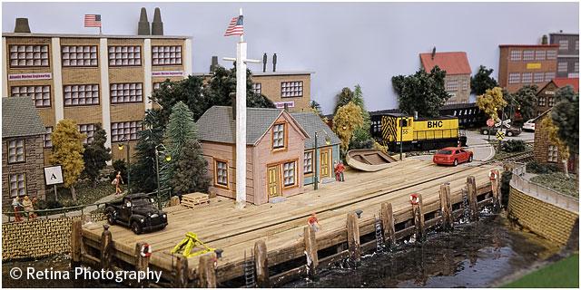 Model Train Layout Detail View 01