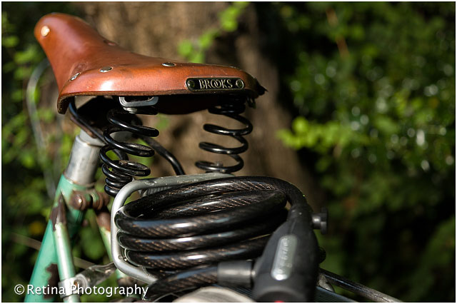 Old Fashioned Bicycle Seat Detail