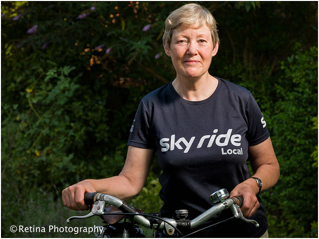 Portrait of Sky Ride Leader With Bicycle