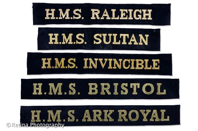 Royal Naval Cap Tallies