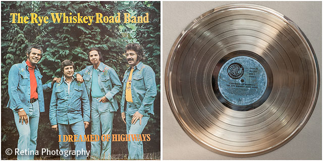 The Rye Whiskey Road Band Album Cover and Gold Disk