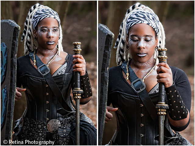 Live Action Role Play Larp Female Warrior Kneeling