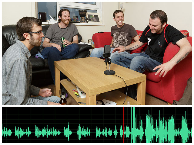 Sdff Crew Recording At Pye Studios With Audio Laughter Track