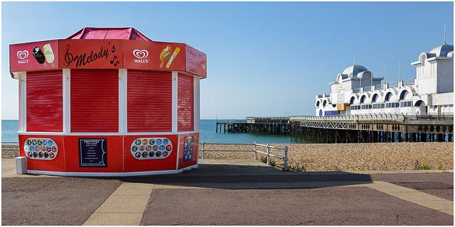 Melodys Ice Cream Kiosk Next To South Parade Pier Southsea