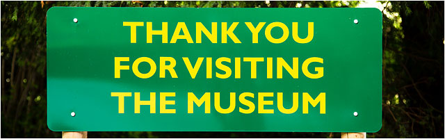 Thank You For Visiting The Weald And Downland Museum Sign