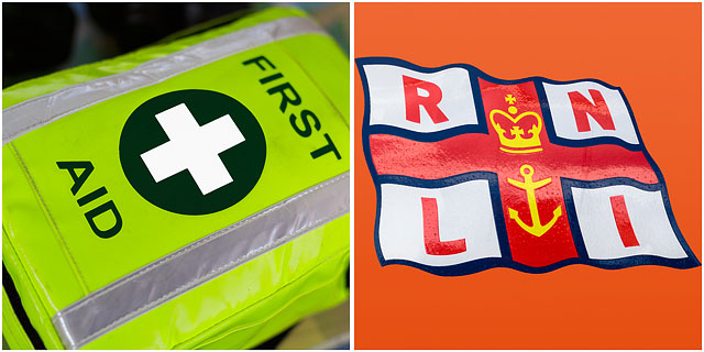 RNLI Emblem With First Aid Holdal