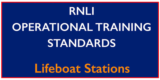 RNLI Operational Training Standards Manual