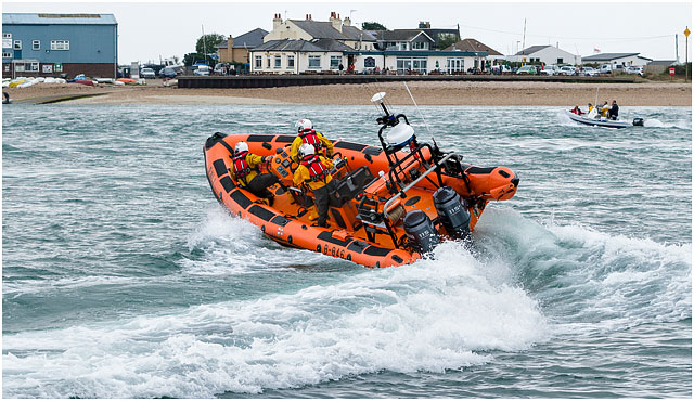 Portsmouth RNLI D-Class Crew on a Rescue Mission