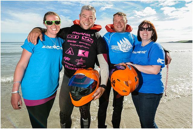 Portrait Of Portsmouth Zapcat Team And Partners On Shoreline