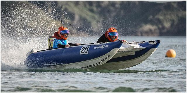 Zapcat Racing Boat Passing Buoy