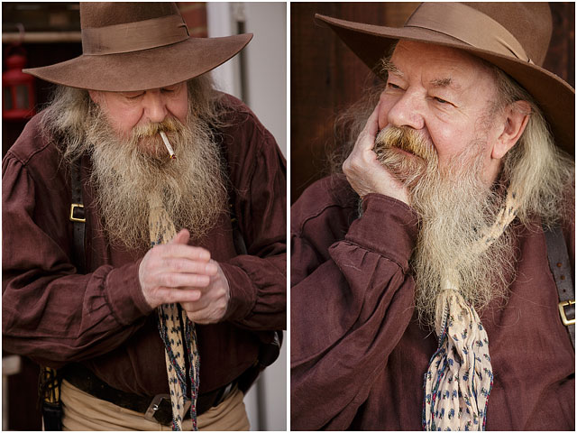 Male Portrait Of Western Reenactment Player With Hat