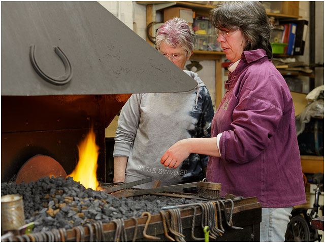 Student And Teacher At Little Duck Forge Open Day Session
