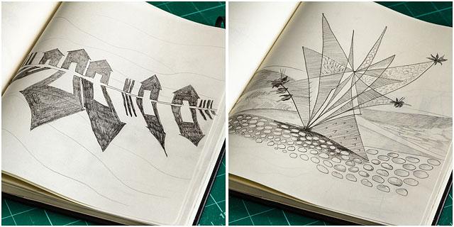 Moleskine Sketch Book Drawings