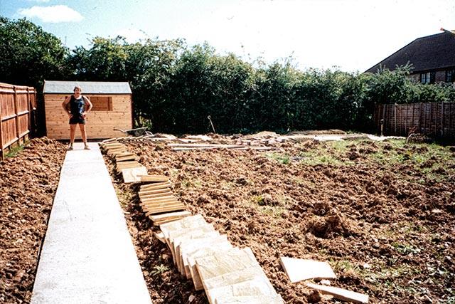 Garden during major landscaping